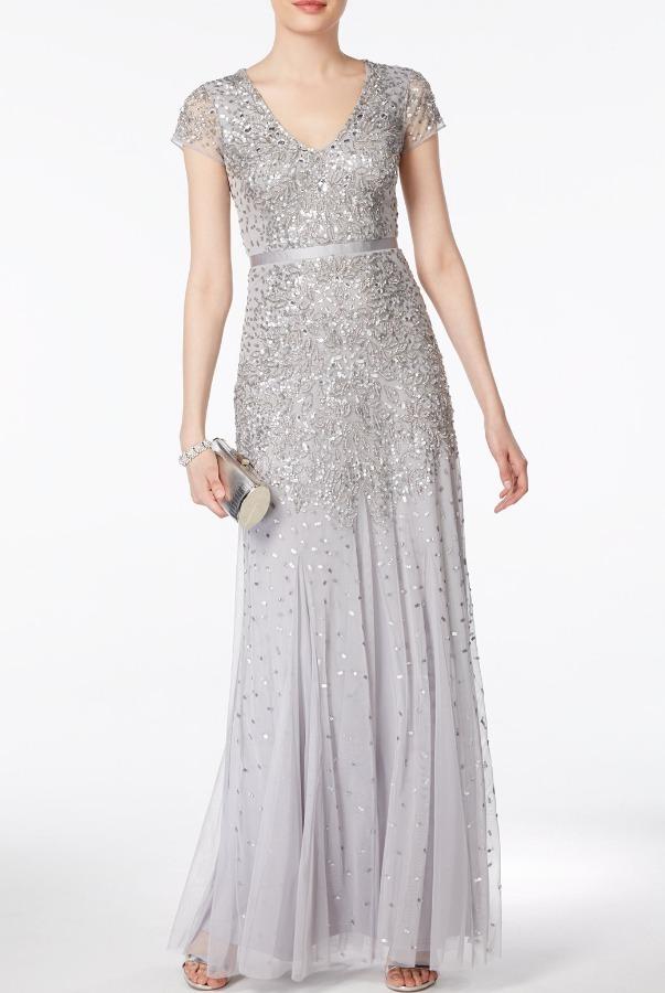 cdc92a92d Vestido Adrianna Papell Talla 6 - $ 2,500.00 en Mercado Libre
