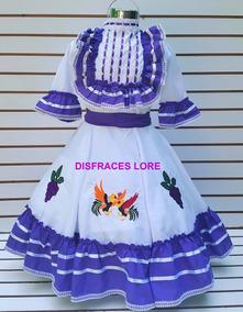 Vestido Aguascalientes Talla 14 Y 16 Disfraz Independencia