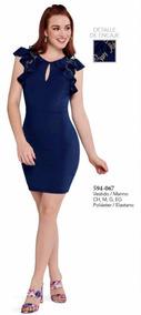 ef8411d1d Vestido Ajustado Azul Con Encaje Envío Gratis Moda