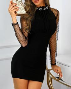 f4b66691e6 Vestido Formal Trabajo Largo Ajustado Stretch Formales - Vestidos en ...