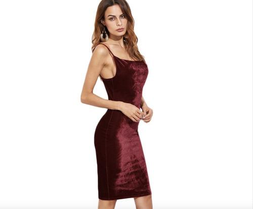 vestido ajustado largo sexy casual