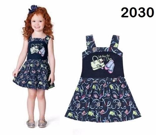 vestido alça estampado - 2030