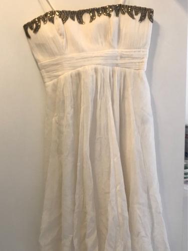 vestido alcinha crepe bordado