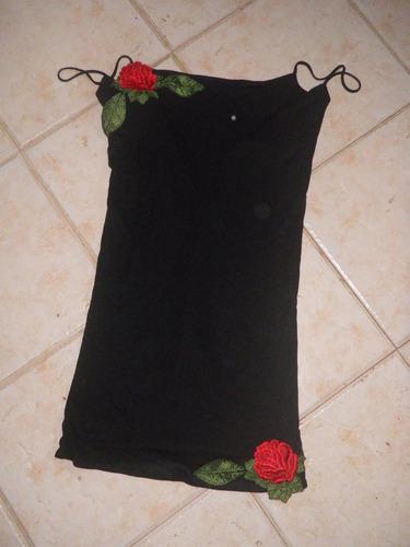 vestido allo martinez jersey algodon bordado t. 1 no envio