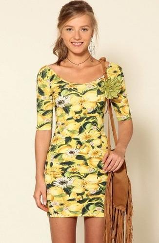 vestido amarelina farm novo c tag