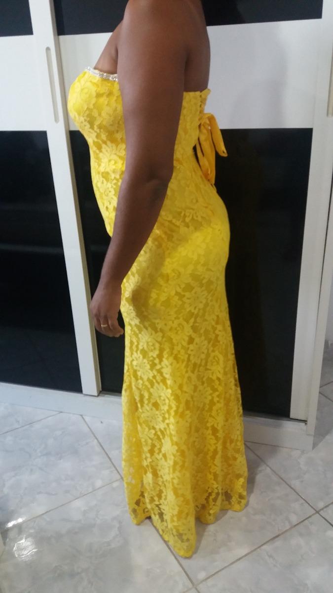 Vestido amarelo longo r 27000 em mercado livre vestido amarelo longo carregando zoom thecheapjerseys Choice Image