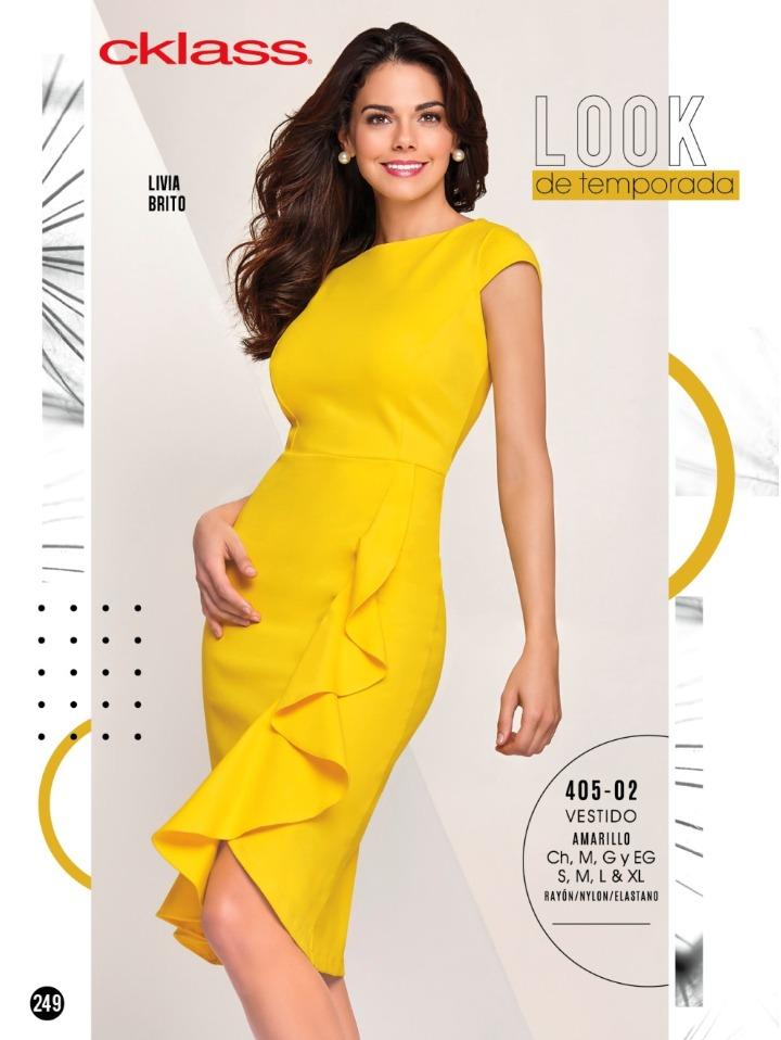 bc4f4425f Vestido Amarillo Cklass 405-02 Invierno 2018 -   750.00 en Mercado Libre