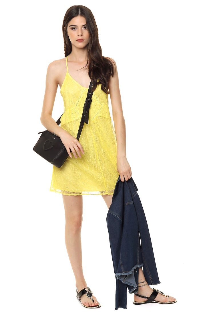 758ed294f51 vestido amarillo con encaje importado   pregunte por mayor. Cargando zoom.