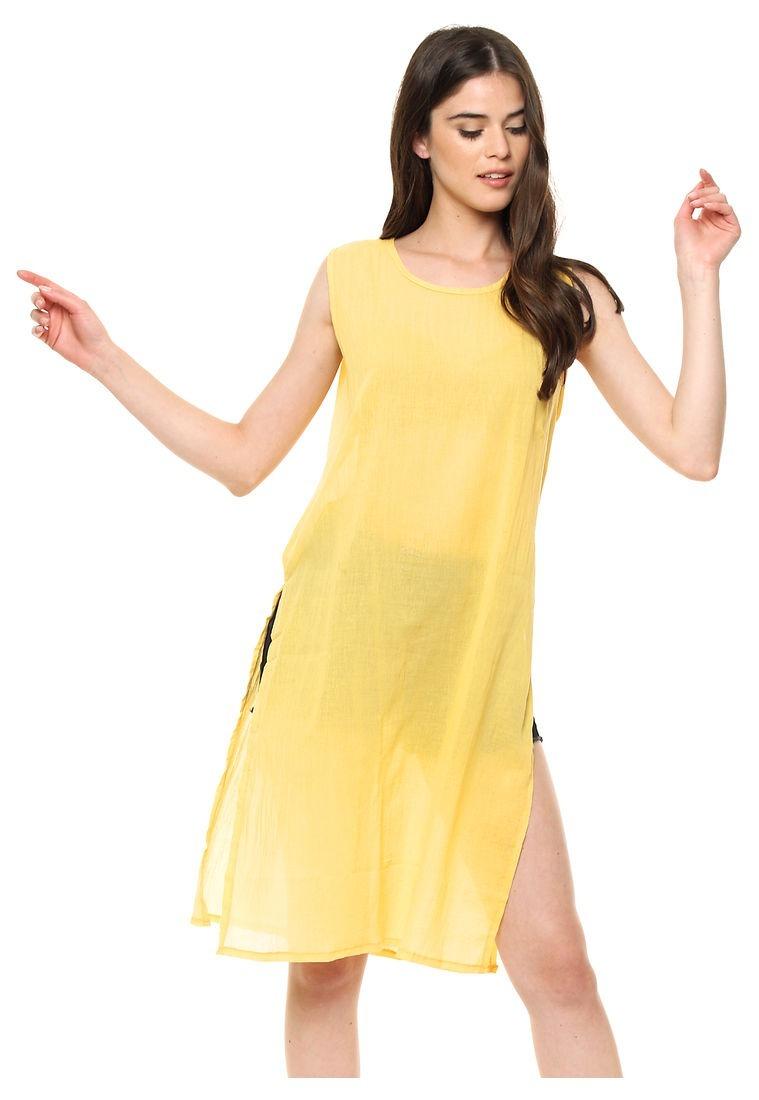 13ad0673f64 vestido amarillo liso importado   pregunte por mayor. Cargando zoom.