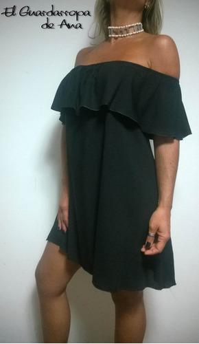 vestido amplio hombro descubierto manga caída 4 posiciones