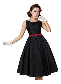Vestido Ampón De Los Años 40s 50 60 Rentro Vintage