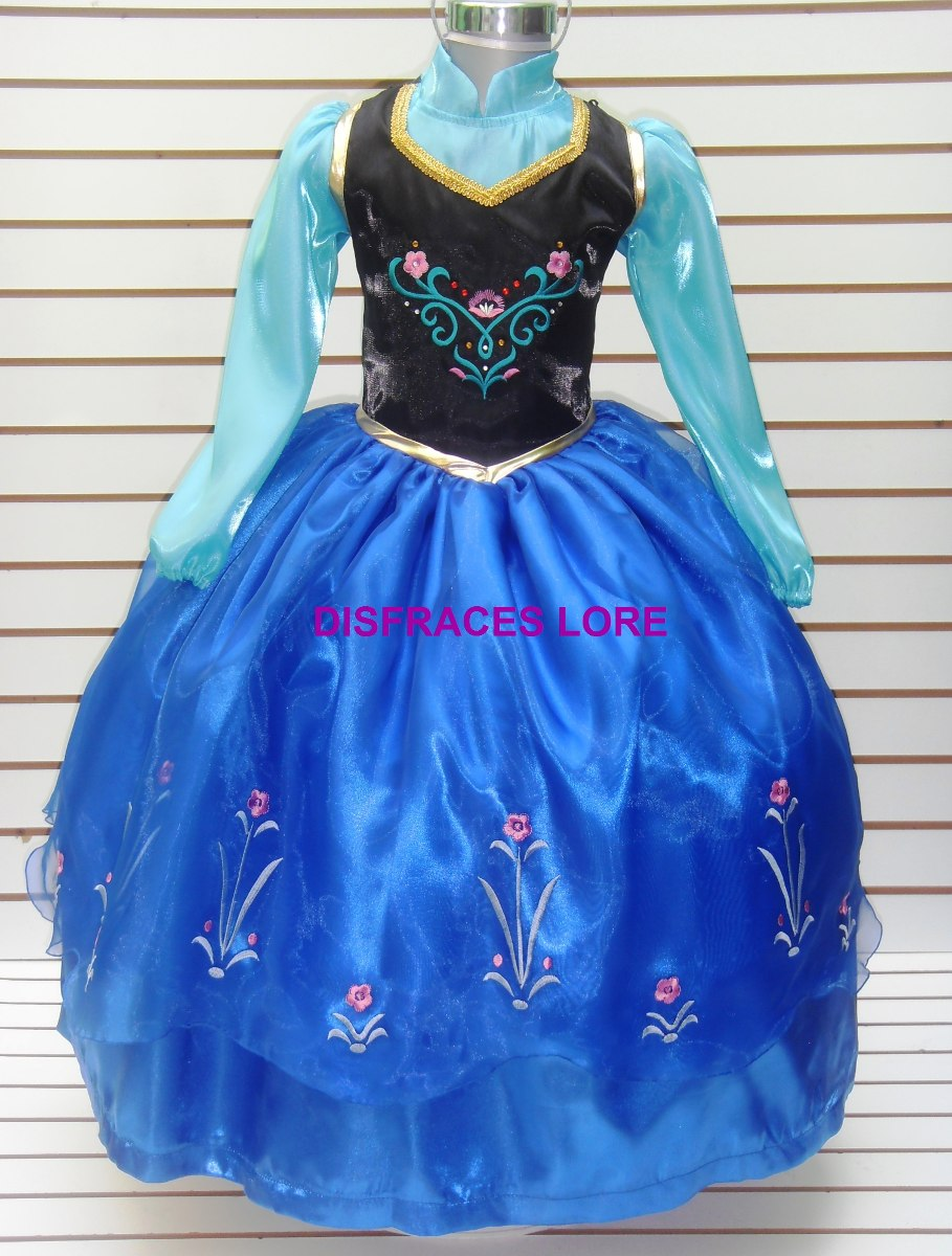 Vestido Ana Frozen Talla 10 Años Anna Con Capa - $ 650.00 ...