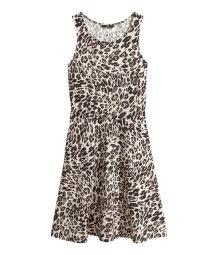 vestido animal print medium algodon hym ebase