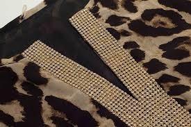 vestido animal print talla s