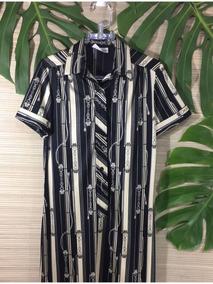 109d40902257 Vestido Ombrinho Listrado - Vestidos Femeninos, Usado com o Melhores ...