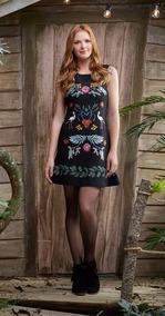 69545539c0 Vestido Cassa Bordada - Vestidos Femininas no Mercado Livre Brasil