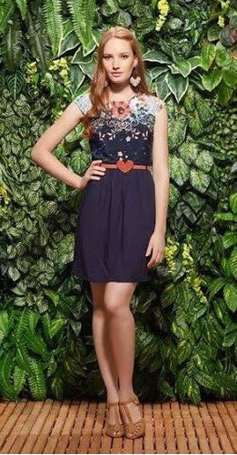 vestido antix - hibisco - p