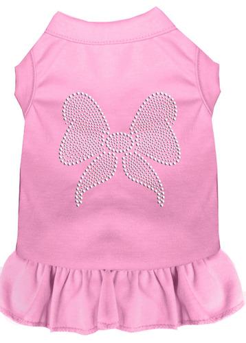 vestido arco diamante de imitación rosa luz 4x (22)