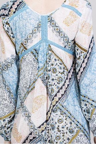 vestido ark & co. holgado con estampado azul