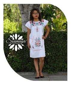Vestidos Tradicionales Mexicanas Casuales Corto De Mujer
