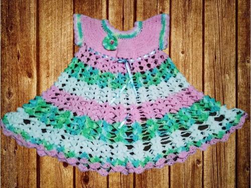 vestido artesanal mexicano tejido a mano para niña 2-3 años