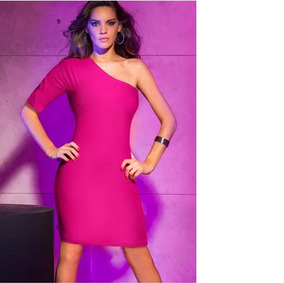 Vestido Asimetrico Color Fiusha 71168 Vicky Form 3 19 K