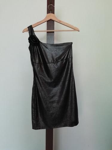 vestido asimétrico de tela fresca , ajustada  talla s