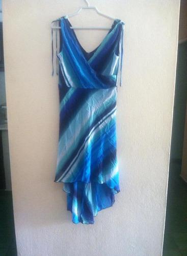 vestido asimétrico estampado corey p  talla 6