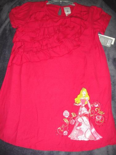 vestido aurora de disney bordado talla 4  ( 957 )