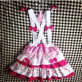 Vestido Avental Festa Junina Agostina Traje Caipirinha Luxo - R  160 ... 5761ad41c9a