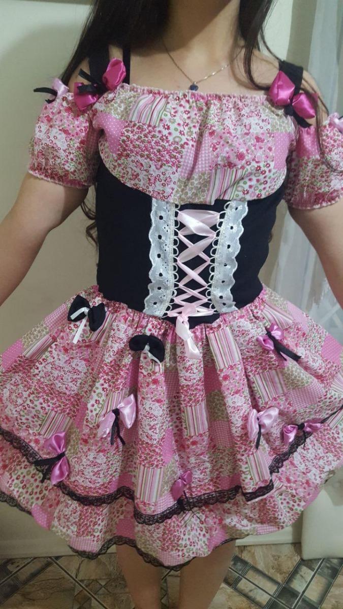vestido avental festa junina agostina traje caipirinha luxo. Carregando zoom . 5bb1ce7b7d9