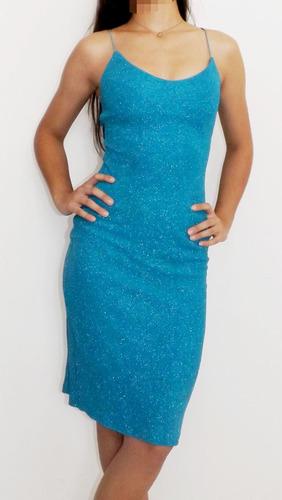 vestido azul brilhoso importado eua