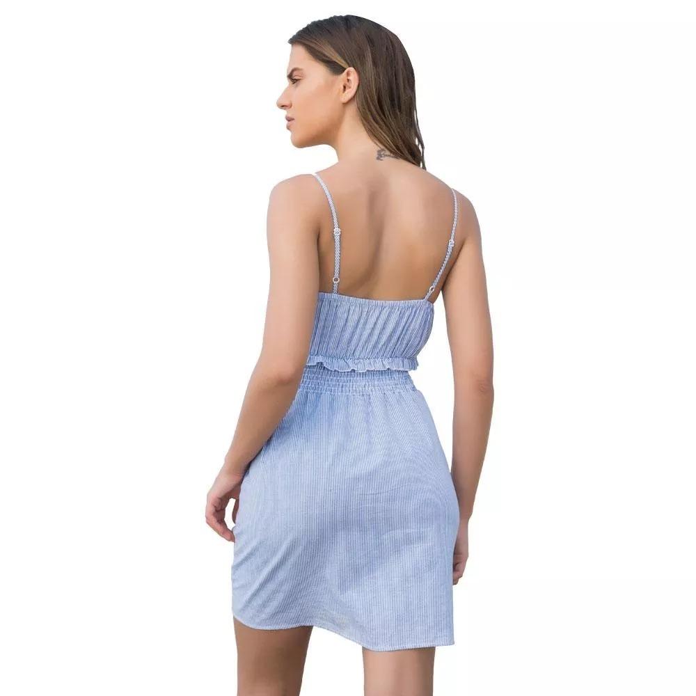 8b8a7e430b39d Vestido Azul Casual Holly Land. Modelo 2374. 100% Algodón ...