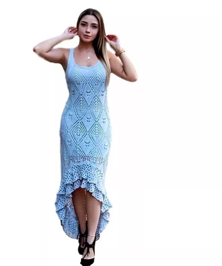Un vestido azul claro