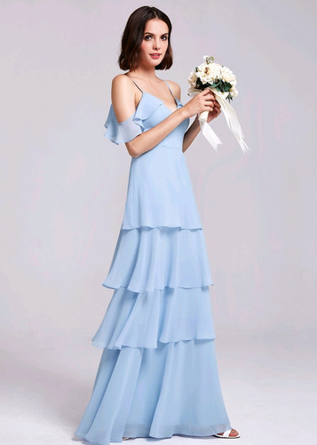 vestido azul claro m  pp candy color tom pastel madrinha