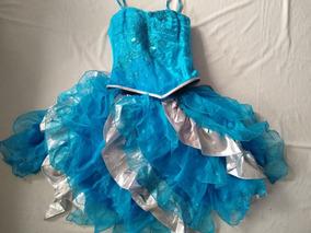 Vestido Azul Con Plata Pniña Salida Primaria Graduación