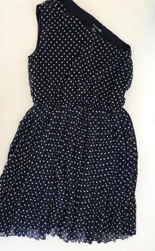vestido azul con puntitos blancos de forever 21