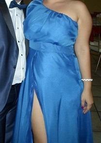 vestido azul de fiesta