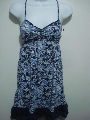 vestido azul de flores talla  m aeropostale original!!!