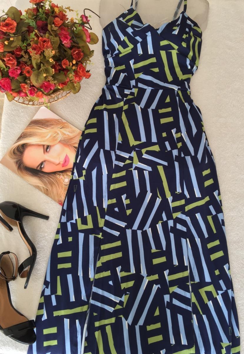 afa89e0e8f vestido azul estampado de alcinha tam unico. Carregando zoom.