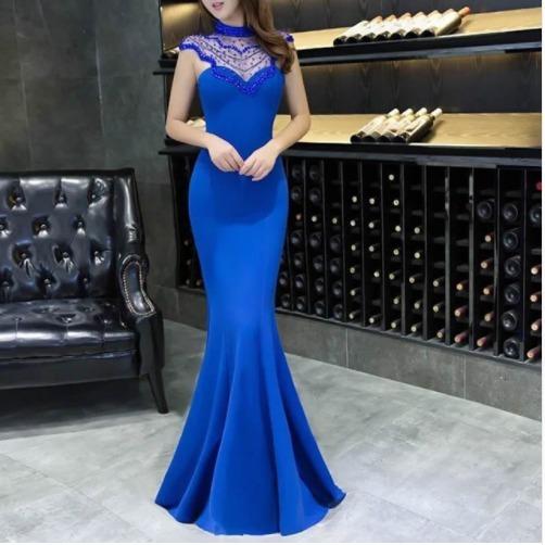 promoción especial busca lo mejor tecnologías sofisticadas Vestido Azul Fashion Estilo Sirena Fiesta Grados Boda Cóctel