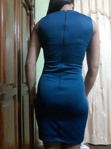 vestido azul formal talla m