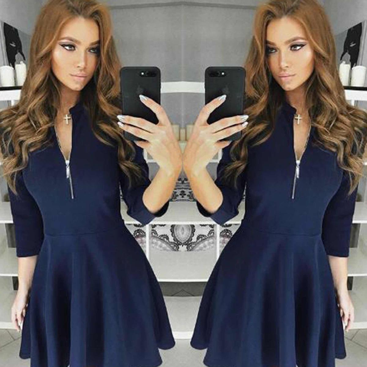 f69c4264d0 Vestido Azul Invierno Abi -   24.900 en Mercado Libre