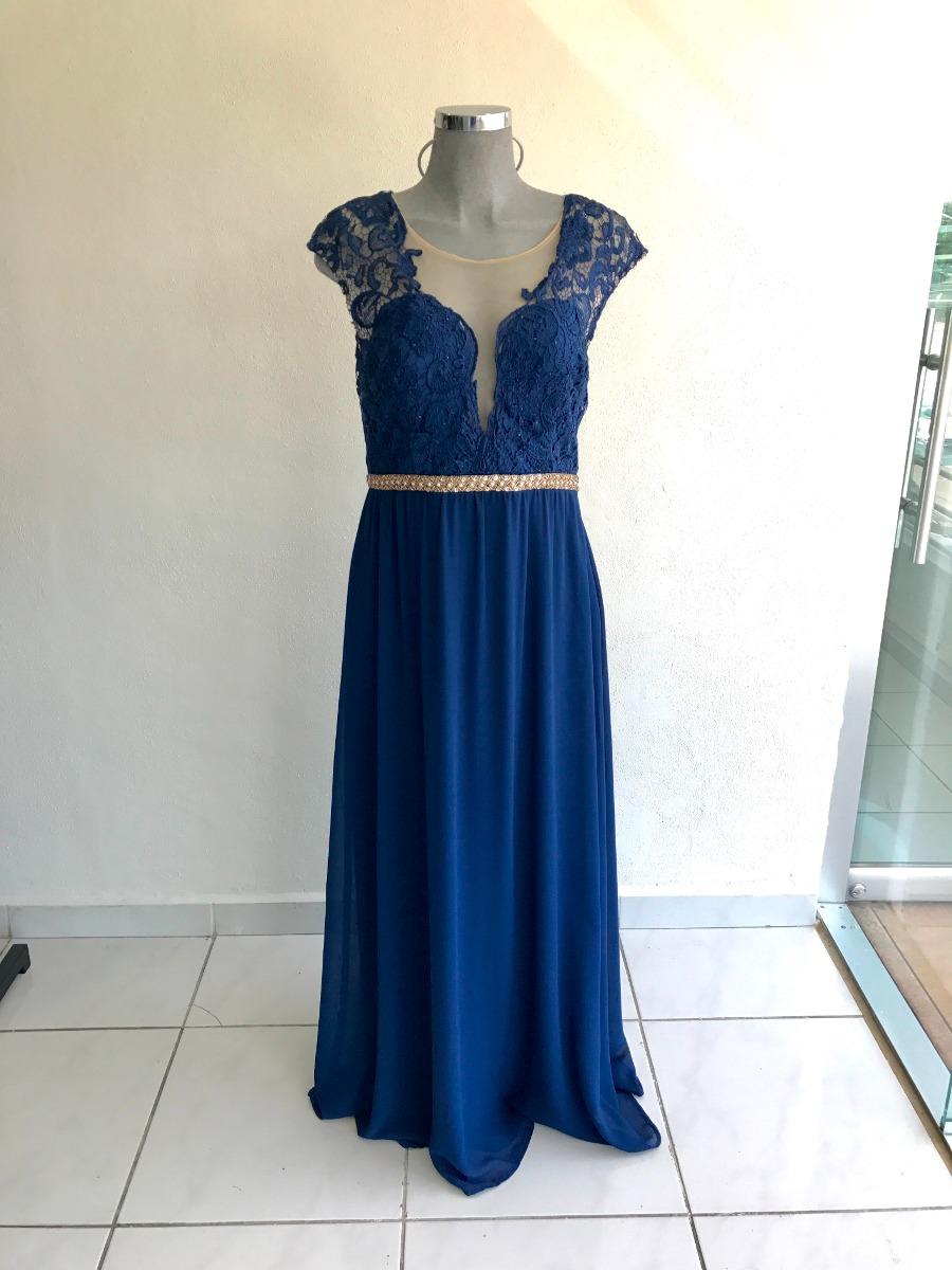 Vestido Azul Marino Largo Talla Extra Xl Red Carpet Gdl