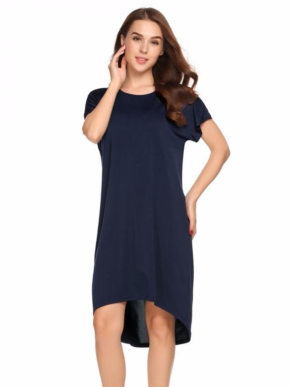 27953628cbf44 Vestido Azul Marino Manga Corta Casual Extra Grande -   430.00 en ...