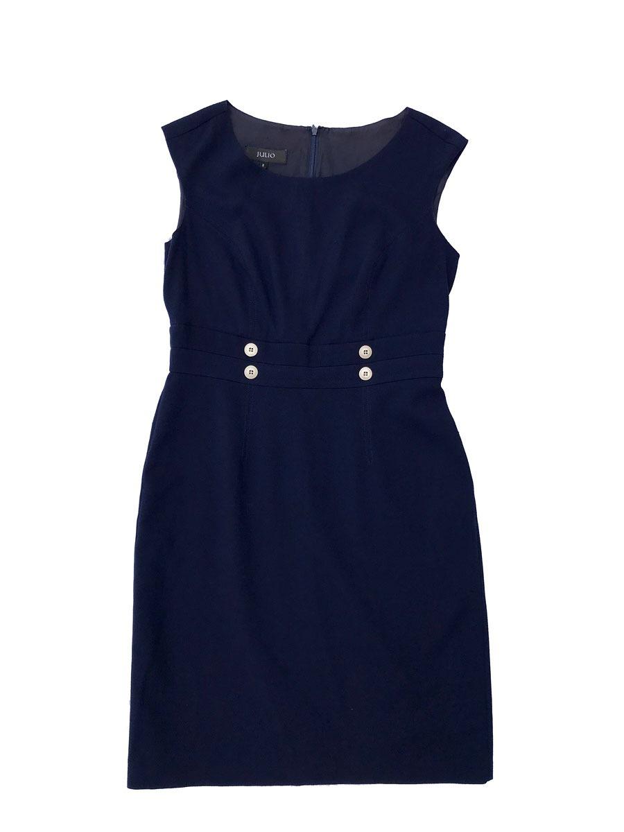 Vestido azul marino julio