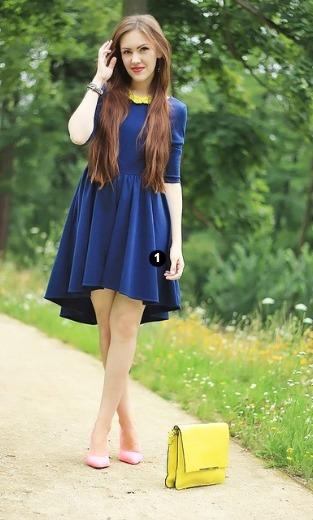 Vestido azul marino sin espalda
