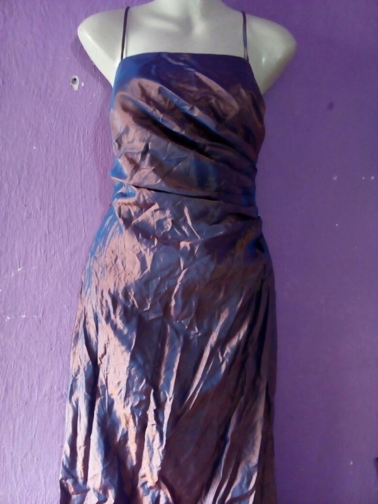Vestido Azul Metálico, Psicodélico Talla 8 Eua - $ 145.00 en Mercado ...