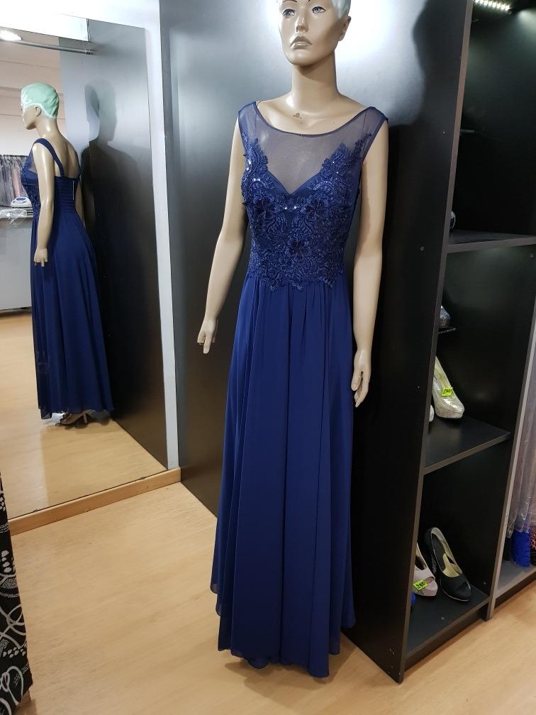 Vestido azul noche formal