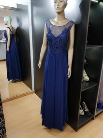 Vestido Azul Noche Largo